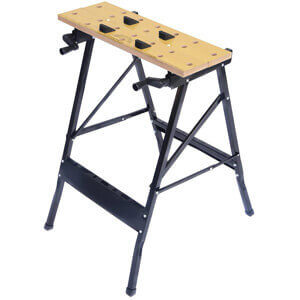 Goplus Folding Steel Portable Workbench