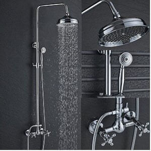 Senlesen Bathroom 8-Inch Rainfall Shower Faucet
