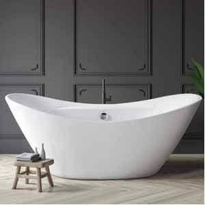 FerdY 67'' Acrylic Freestanding bathtub