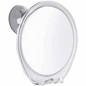 Fogless Shower Mirror with Razor Hook