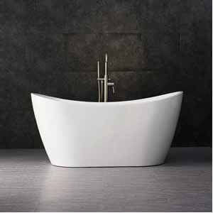 WOODBRIDGE BTA-1516 white 59 Acrylic Freestanding Bathtub