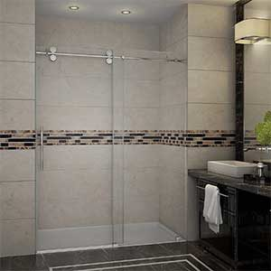 Aston Langham Completely Frameless Glass Sliding Shower Door