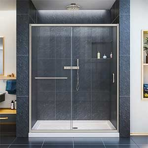 DreamLine Infinity-Z Semi-Frameless Sliding Shower Door