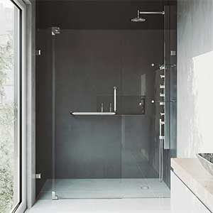 VIGO Pirouette Frameless Pivot Hinge Shower Door