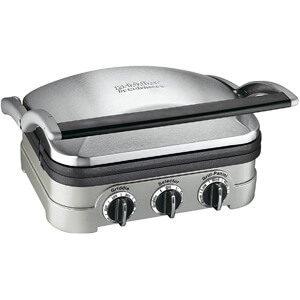 Cuisinart 5-in-1 Griddler, GR-4N, Silver