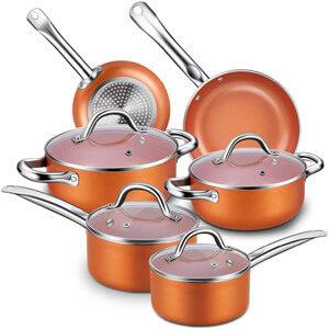 CUSINAID 10-Piece Aluminum Cookware Set