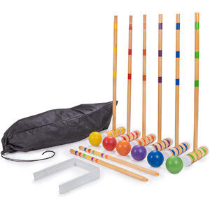 Crown Sporting Goods Six-Player Deluxe Croquet Set