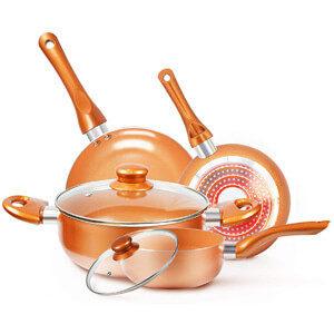 KUTIME Copper Pan Set