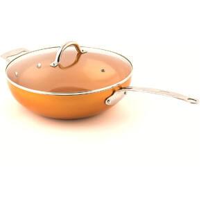 MasterPan Copper Tone 12-inch Ceramic Non-stick Wok