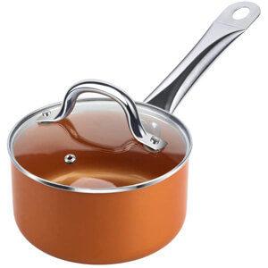 SHINEURI 12 Inch Nonstick Ceramic Wok and Stir Fry Pan
