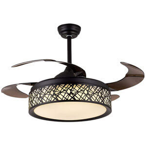 BIG BANBAN Modern Black Ceiling Fan